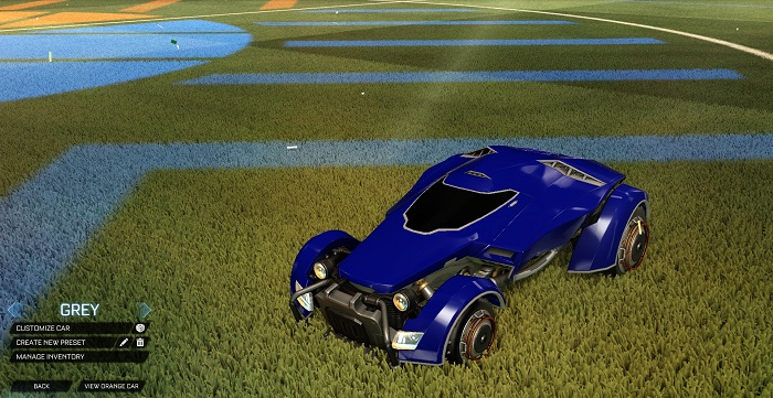 Rocket League New Painted Cars Bodies - Painted X-Devil - Grey