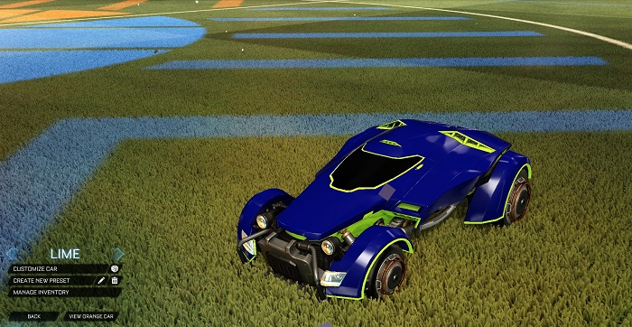 Rocket League New Painted Cars Bodies - Painted X-Devil - Lime