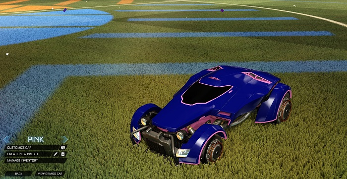 Rocket League New Painted Cars Bodies - Painted X-Devil - Pink