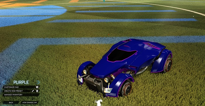 Rocket League New Painted Cars Bodies - Painted X-Devil - Purple