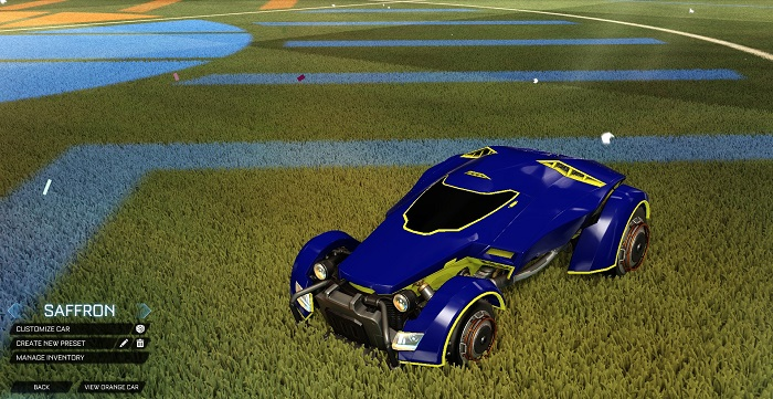 Rocket League New Painted Cars Bodies - Painted X-Devil - Saffron