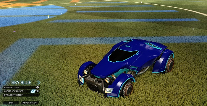 Rocket League New Painted Cars Bodies - Painted X-Devil - Sky Blue