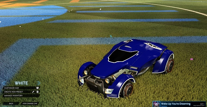 Rocket League New Painted Cars Bodies - Painted X-Devil - White