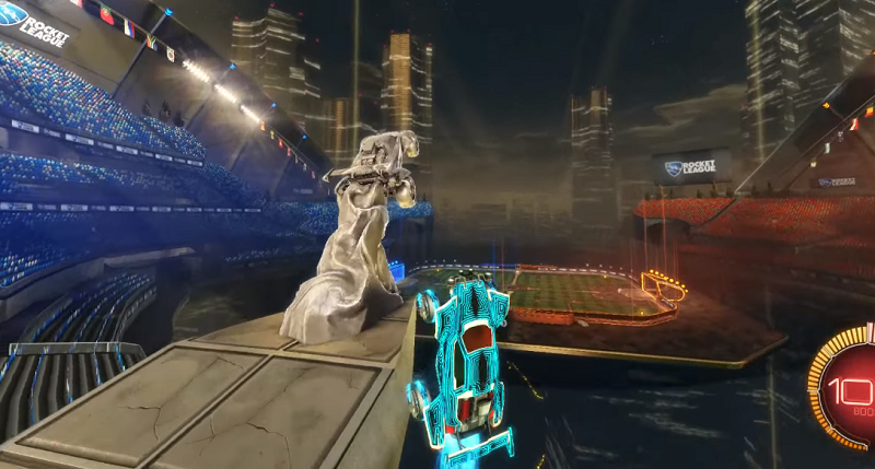 Rocket League Out Of Map Glitch -DFH STADIUM