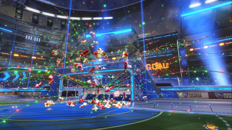 rocket league christmas crate - christmas goal explosion