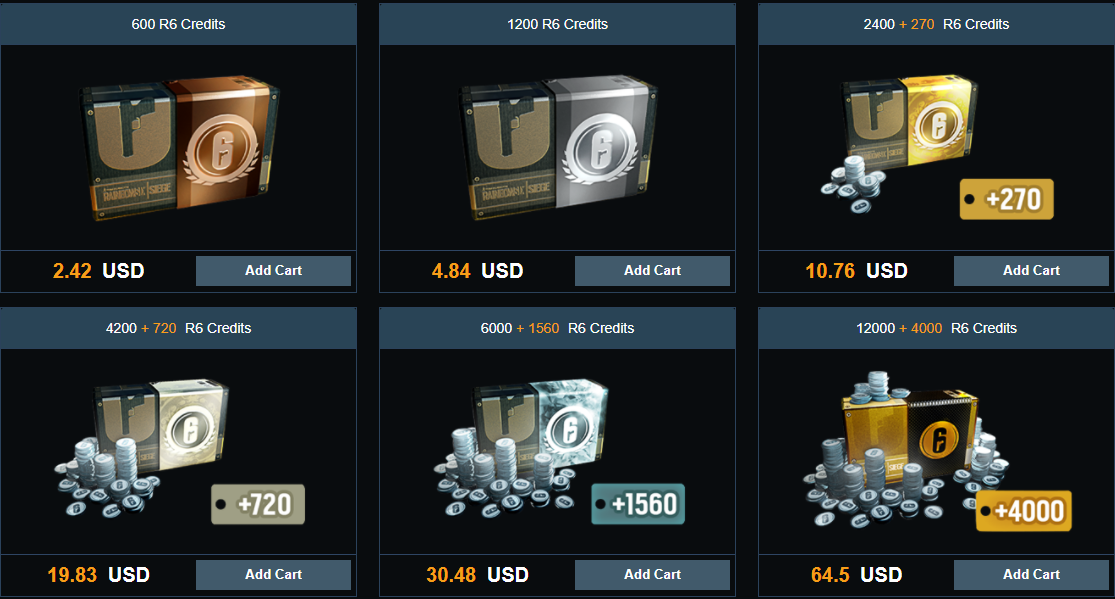 buy r6 credits for pc - dpsvip