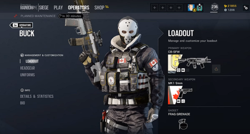 r6 buck loadout